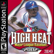 High Heat Major League Baseball 2002 Video Game for Sony PlayStation