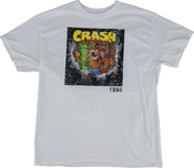 - Crash Bandicoot Distressed White - Officially Licensed T-Shirt  (Front)