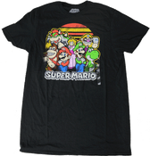 Super Mario Bros. Characters Black - Officially Licensed T-Shirt