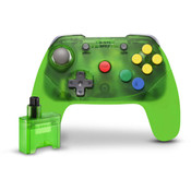 Clear Green Wireless Brawler Controller for Nintendo 64 Gaming System