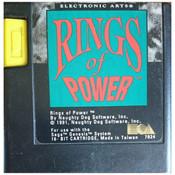 Rings of Power Video Game for Sega Genesis
