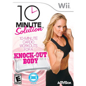 10 Minute Solution Knock-Out Body Fitness Video Game for Nintendo Wii
