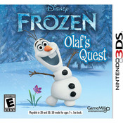 Frozen Olaf's Quest Video Game for Nintendo 3DS