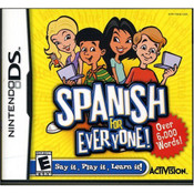 Spanish for Everyone Video Game for Nintendo DS
