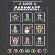 Super Mario Kart Grey - Officially Licensed T-Shirt