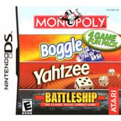 Monopoly/Boggle/Yahtzee/Battleship Video Game for Nintendo DS