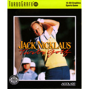 Jack Nicklaus Turbo Golf Video Game for TurboGrafx16