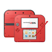 Nintendo 2DS Red w/ Black Sides Handheld System with Charger