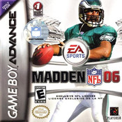Madden 06 Video Game For Nintendo GBA