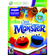 Sesame Street Once Upon a Monster Video Game For Microsoft Xbox 360