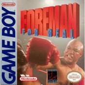 Foreman For Real Video Game For Nintendo GameBoy