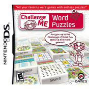 Challenge Me Word Puzzles Video Game For Nintendo DS