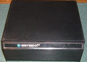Original Black Storage Cabinet - Nintendo 64 (N64)