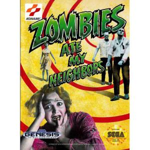 Zombies Ate My Neighbors Empty Box For Sega Genesis
