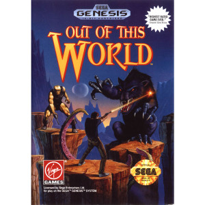 Out Of This World Empty Box For Sega Genesis