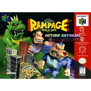 Rampage World Tour Empty Box For Nintendo N64