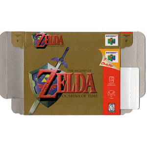 Legend of Zelda Ocarina of Time - Empty N64 Box