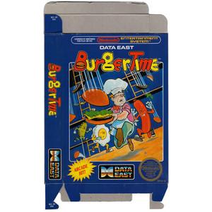 Burgertime - Empty NES Box