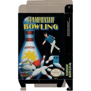 Championship Bowling - Empty NES Box
