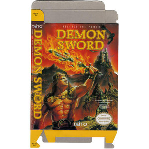 Demon Sword - Empty NES Box