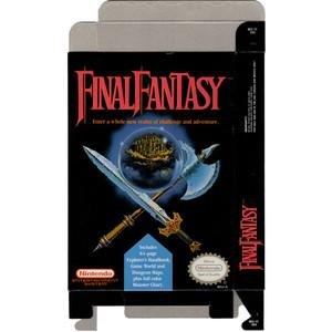 Final Fantasy - Empty NES Box