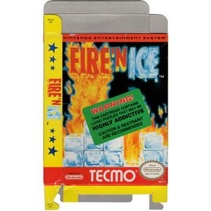 Fire'N Ice - Empty NES Box