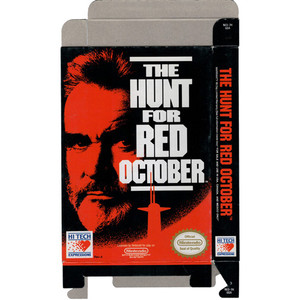 Hunt for Red October, The - Empty NES Box
