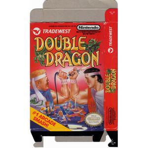 Double Dragon - Empty NES Box