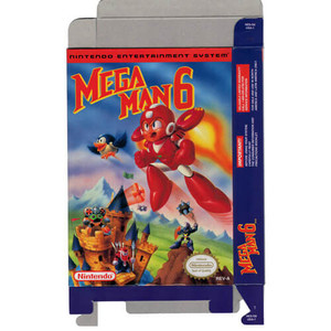 Mega Man 6 - Empty NES Box