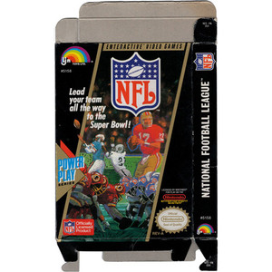 NFL Football - Empty NES Box