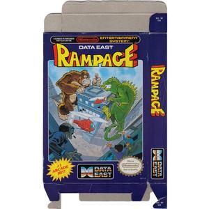 Rampage - Empty NES Box