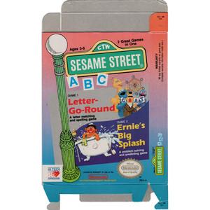 Sesame Street ABC Letter Go Round - Empty NES Box