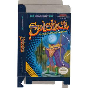 Solstice - Empty NES Box