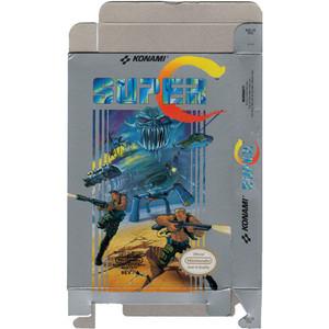 Super C - Empty NES Box