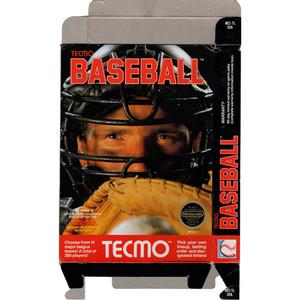 Tecmo Baseball - Empty NES Box