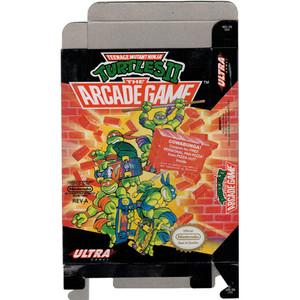 Teenage Mutant Ninja Turtles II - Empty NES Box