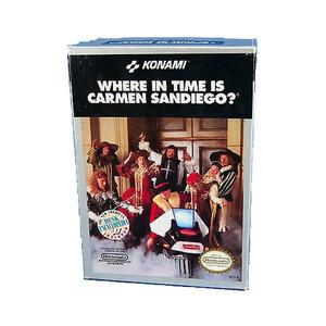 Where in Time is Carmen Sandiego? - Empty NES Box
