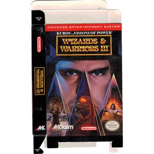 Wizards & Warriors III - Empty NES Box