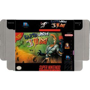 Earthworm Jim - Empty SNES Box