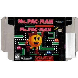 Ms. Pac-Man - Empty SNES Box