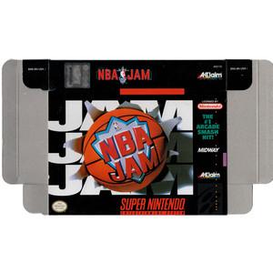 NBA Jam Basketball - Empty SNES Box