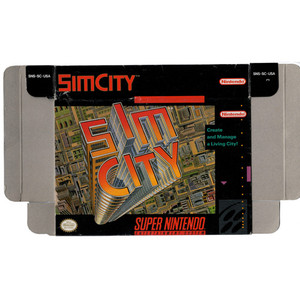 Sim City - Empty SNES Box