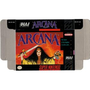 Arcana - Empty SNES Box