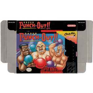 Super Punch Out!! - Empty SNES Box