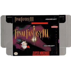 Final Fantasy III - Empty SNES Box