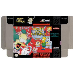 Krusty's Super Fun House - Empty SNES Box