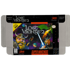 Lost Vikings 2 - Empty SNES Box