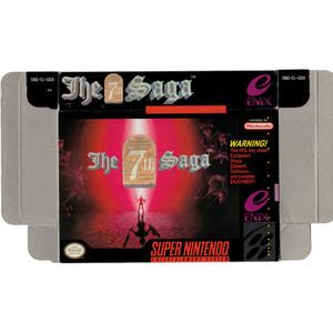 7th Saga, The - Empty SNES Box