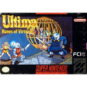 Ultima Runes of Virtue 2 Empty Box For Nintendo SNES