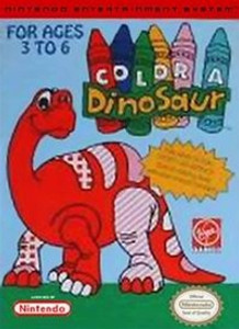 Complete Color A Dinosaur - NES